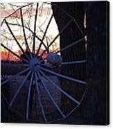 Satellite Sunset Canvas Print