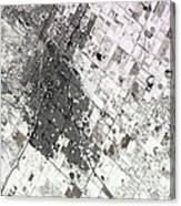 Satellite View Of Amarillo, Texas Canvas Print