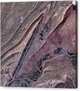 Satellite View Of Big Horn, Wyoming, Usa Canvas Print