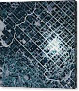 Satellite View Of Fields In Sonora Canvas Print