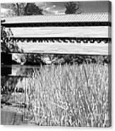 Saucks Bridge And Reeds Canvas Print