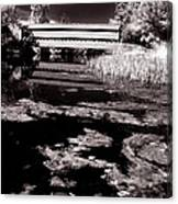 Saucks Bridge Down Stream Canvas Print