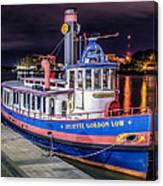 Savannah Belle Dot Ferry Canvas Print