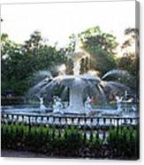 Savannah Georgia Forsyth Park Fountain Canvas Print