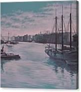 Savannah Harbor 1900 Canvas Print