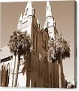 Savannah Sepia - Methodist Church Canvas Print
