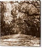 Savannah Sepia - The Old South Canvas Print