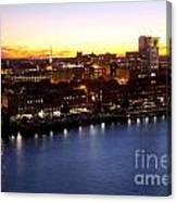 Savannah Skyline At Dusk Canvas Print