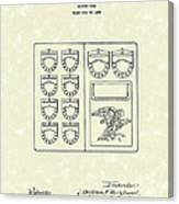 Savings Book 1926 Patent Art Canvas Print