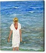 Savoring The Sea Canvas Print