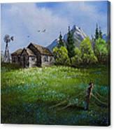 Sawtooth Mountain Homestead Canvas Print