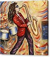 Sax Man Canvas Print