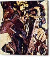 Sax Man One Canvas Print