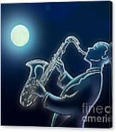 Sax-o-moon Canvas Print
