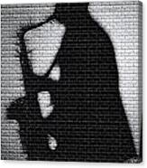 Sax On The Bricks Canvas Print
