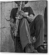 Sax Player In Chicago  Canvas Print