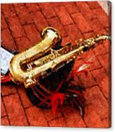 Saxophone Before The Parade Canvas Print