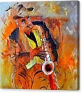 Saxplayer 88 Canvas Print