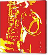 Saxy Red Poster Canvas Print