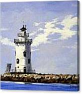 Saybrook Breakwater Lighthouse Old Saybrook Connecticut Canvas Print