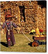 Scarecrows Play Too Canvas Print