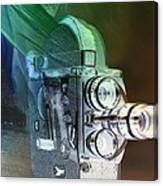Scarf Camera In Negative Canvas Print