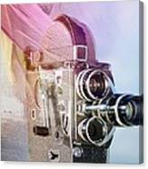Scarf Camera Canvas Print