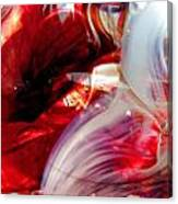 Scarlet Swirls Abstract Canvas Print