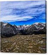 Scene From The Rocky Mountains National Park  Canvas Print