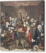 Scene In A Gaming House, Plate Vi Canvas Print