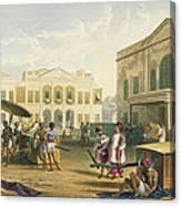 Scene In Bombay, From Volume I Canvas Print
