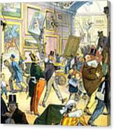 Scene In The Louvre 1911 Canvas Print