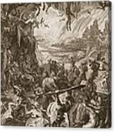 Scene Of Hell, 1731 Canvas Print