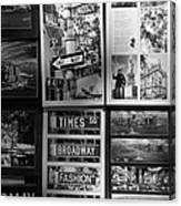 Scenes Of New York In Black And White Canvas Print