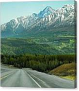 Scenic Drive On The Glenn Highway Canvas Print