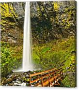 Scenic Elowah Falls In The Columbia River Gorge In Oregon Canvas Print
