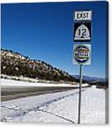 Scenic Highway 12 With Snow Utah Canvas Print