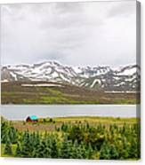 Scenic Landscape In Northern Iceland. Canvas Print