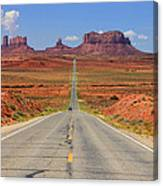 Scenic Road Into Monument Valley Canvas Print