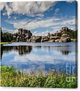 Scenic Sylvan Lake At Custer State Park Canvas Print