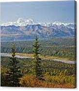 Scenic View Of Alaska Range And Canvas Print