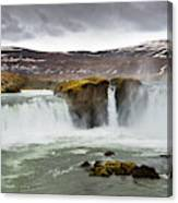 Scenic View Of Godafoss Waterfall Canvas Print