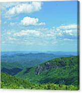 Scenic View Of Mountain Range, Blue Canvas Print