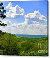 Scenic View Of So Mo Ozarks - Digital Paint Canvas Print