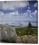 Scenic View With Boulder On Top Of Cadilac Mountain Canvas Print