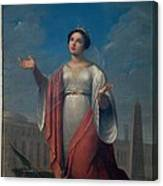 Schiavoni Natale, St Catherine, 1828 Canvas Print