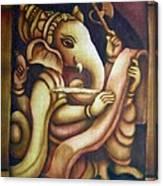 Scholar Ganesh Canvas Print