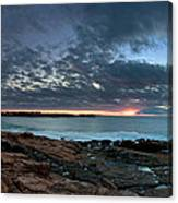 Schoodic Point Sunrise 7218 Canvas Print