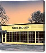 School Bus Repair Shop Canvas Print