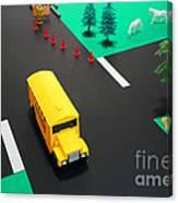 School Bus School Canvas Print